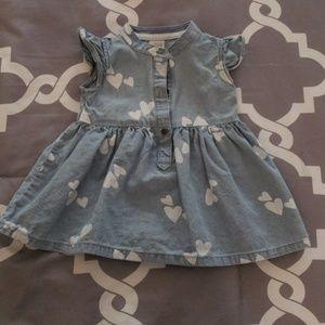 [NEW LISTING] Carter's Baby Girl Heart Print Dress